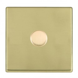 Hamilton Hartland CFX Polished Brass Push On/Off Dimmer 1 Gang Multi-way 250W/VA Trailing Edge with Polished Brass Insert