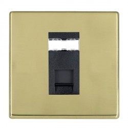 Hamilton Hartland CFX Polished Brass 1 Gang RJ45 Outlet Cat 5e Unshielded with Black Insert