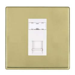 Hamilton Hartland CFX Polished Brass 1 Gang RJ45 Outlet Cat 5e Unshielded with White Insert