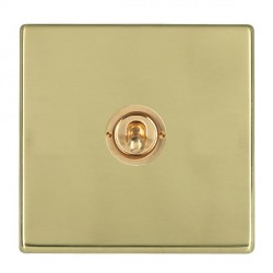 Hamilton Hartland CFX Polished Brass 1 Gang 2 Way Dolly with Polished Brass Insert