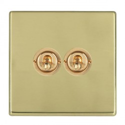 Hamilton Hartland CFX Polished Brass 2 Gang 2 Way Dolly with Polished Brass Insert