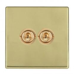 Hamilton Hartland CFX Polished Brass 2 Gang 2 Way Dolly with Polished Brass Insert