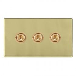 Hamilton Hartland CFX Polished Brass 3 Gang 2 Way Dolly with Polished Brass Insert