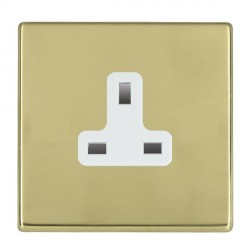 Hamilton Hartland CFX Polished Brass 1 Gang 13A Unswitched Socket with White Insert