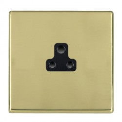Hamilton Hartland CFX Polished Brass 1 Gang 2A Unswitched Socket with Black Insert