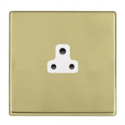 Hamilton Hartland CFX Polished Brass 1 Gang 2A Unswitched Socket with White Insert