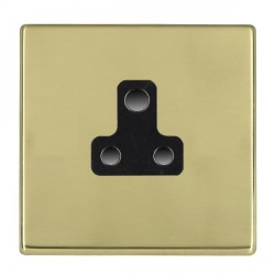 Hamilton Hartland CFX Polished Brass 1 Gang 5A Unswitched Socket with Black Insert