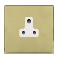 Hamilton Hartland CFX Polished Brass 1 Gang 5A Unswitched Socket with White Insert