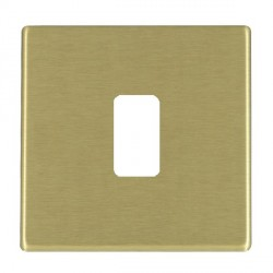 Hamilton Hartland CFX Grid Satin Brass 1 Gang Concealed Fix Grid Fix Aperture Plate with Grid