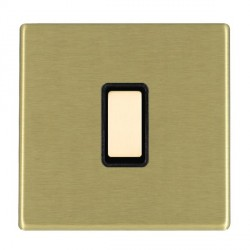 Hamilton Hartland CFX Satin Brass 1 Gang Multi way Touch Master Trailing Edge with Black Insert