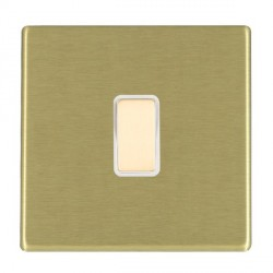 Hamilton Hartland CFX Satin Brass 1 Gang Multi way Touch Master Trailing Edge with White Insert