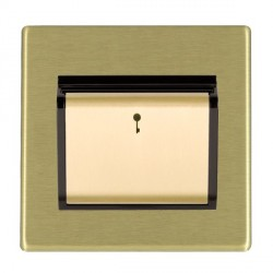 Hamilton Hartland CFX Satin Brass 1 Gang On/Off Card Switch with Blue LED Locator with Black Insert