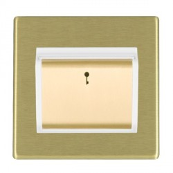Hamilton Hartland CFX Satin Brass 1 Gang On/Off Card Switch with Blue LED Locator with White Insert