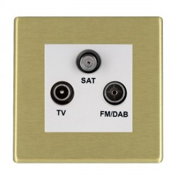 Hamilton Hartland CFX Satin Brass TV+FM+SAT (DAB Compatible) with White Insert