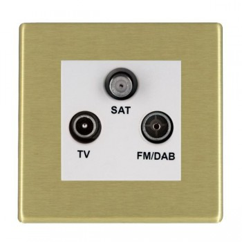 Hamilton Hartland CFX Satin Brass TV+FM+SAT (DAB Compatible) with White Insert