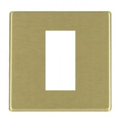 Hamilton Hartland CFX EuroFix Plates Satin Brass Single Plate c/w 1 EuroFix Apertures + Grid