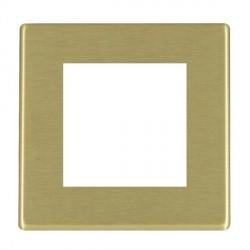 Hamilton Hartland CFX EuroFix Plates Satin Brass Single Plate c/w 2 EuroFix Apertures + Grid