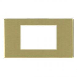 Hamilton Hartland CFX EuroFix Plates Satin Brass Double Plate c/w 3 EuroFix Apertures + Grid