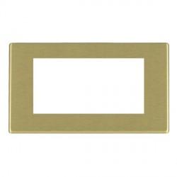 Hamilton Hartland CFX EuroFix Plates Satin Brass Double Plate c/w 4 EuroFix Apertures + Grid