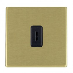 Hamilton Hartland CFX Satin Brass 1 Gang 2 Way Key Switch with Black Insert