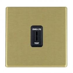 Hamilton Hartland CFX Satin Brass 1 Gang 2 Way Key Switch 'EMG LTG TEST' with Black Insert