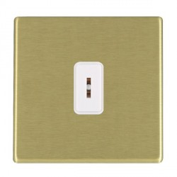 Hamilton Hartland CFX Satin Brass 1 Gang 2 Way Key Switch with White Insert