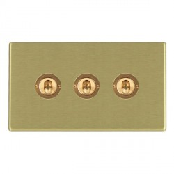 Hamilton Hartland CFX Satin Brass 3 Gang 2 Way Dolly with Satin Brass Insert