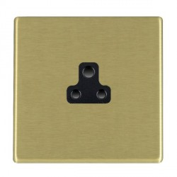 Hamilton Hartland CFX Satin Brass 1 Gang 2A Unswitched Socket with Black Insert