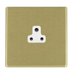 Hamilton Hartland CFX Satin Brass 1 Gang 2A Unswitched Socket with White Insert