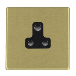 Hamilton Hartland CFX Satin Brass 1 Gang 5A Unswitched Socket with Black Insert