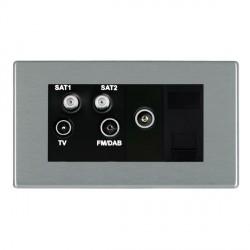 Hamilton Hartland CFX Satin Steel TV+FM+SAT+SAT (DAB Compatible)+TV+TCS (DAB Compatible) with Black Inser...