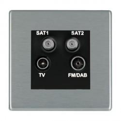 Hamilton Hartland CFX Satin Steel TV+FM+SAT+SAT (DAB Compatible) with Black Insert