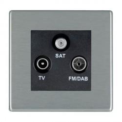 Hamilton Hartland CFX Satin Steel TV+FM+SAT (DAB Compatible) with Black Insert