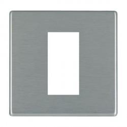 Hamilton Hartland CFX EuroFix Plates Satin Steel Single Plate c/w 1 EuroFix Apertures + Grid
