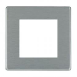 Hamilton Hartland CFX EuroFix Plates Satin Steel Single Plate c/w 2 EuroFix Apertures + Grid