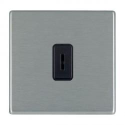 Hamilton Hartland CFX Satin Steel 1 Gang 2 Way Key Switch with Black Insert