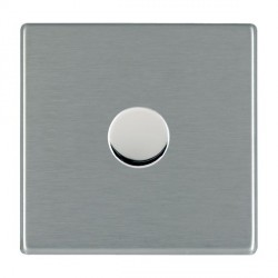 Hamilton Hartland CFX Satin Steel Push On/Off Dimmer 1 Gang 2 way 600W with Satin Steel Insert