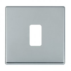 Hamilton Hartland CFX Grid Bright Chrome 1 Gang Concealed Fix Grid Fix Aperture Plate with Grid