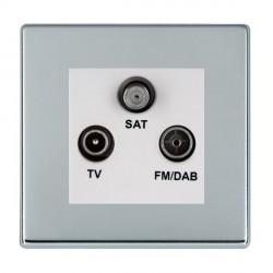 Hamilton Hartland CFX Bright Chrome TV+FM+SAT (DAB Compatible) with White Insert