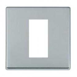 Hamilton Hartland CFX EuroFix Plates Bright Chrome Single Plate c/w 1 EuroFix Apertures + Grid