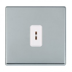 Hamilton Hartland CFX Bright Chrome 1 Gang 2 Way Key Switch with White Insert