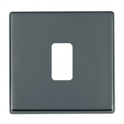 Hamilton Hartland CFX Grid Black Nickel 1 Gang Concealed Fix Grid Fix Aperture Plate with Grid