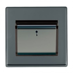 Hamilton Hartland CFX Black Nickel 1 Gang On/Off 10A Card Switch with Blue LED Locator with Black Insert