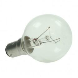 Small Bayonet Cap 240v 25watt CLEAR Warm White Golf Ball Lamp