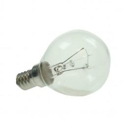 Small Edison Screw 240v 25watt CLEAR Warm White Golf Ball Lamp