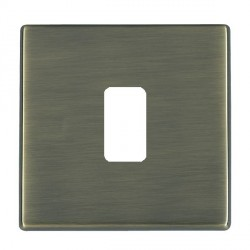 Hamilton Hartland CFX Grid Antique Brass 1 Gang Concealed Fix Grid Fix Aperture Plate with Grid