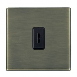 Hamilton Hartland CFX Antique Brass 1 Gang 2 Way Key Switch with Black Insert