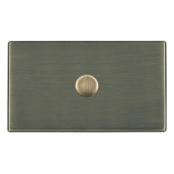 Hamilton Hartland CFX Antique Brass Push On/Off Dimmer 1 Gang 2 way 1000W with Antique Brass Insert