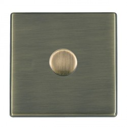 Hamilton Hartland CFX Antique Brass Push On/Off Dimmer 1 Gang 2 way Inductive 300VA with Antique Brass Insert