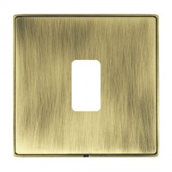 Hamilton Linea-Duo CFX Antique Brass/Antique Brass 1 Gang Grid Fix Aperture Plate with Grid